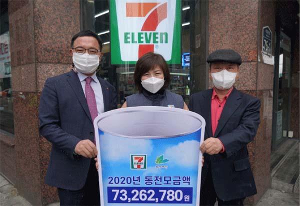 세븐일레븐, 친환경 동전 7300만원 모아 환경재단에 전달